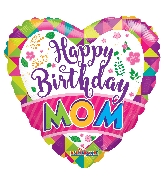 "18"" Bday Mom Foil Balloon"