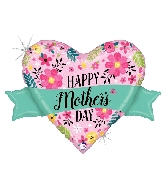 "32"" Glittering Floral Mother&#39s Day Banner Foil Balloon"