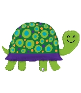 "40"" Shape Garden Turtle Foil Balloon"