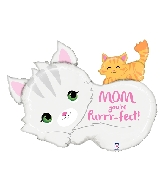 "35"" Shape Purr-fect Mom Foil Balloon"