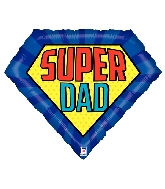 "30"" Shape Super Dad Foil Balloon"