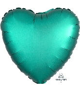 "18"" Satin Luxe™ Jade Heart Foil Balloon"