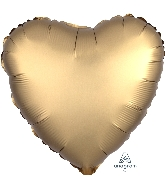 "18"" Satin Luxe™ Gold Sateen Heart Foil Balloon"