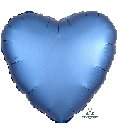 "18"" Satin Luxe™ Azure Heart Foil Balloon"