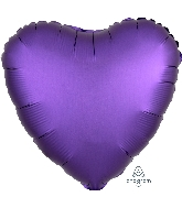 "18"" Satin Luxe™ Purple Royale Heart Foil Balloon"