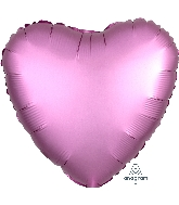 "18"" Satin Luxe™ Flamingo Heart Foil Balloon"