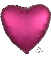 "18"" Satin Luxe™ Pomegranate Heart Foil Balloon"