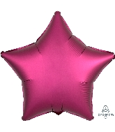 "18"" Satin Luxe™ Pomegranate Star Foil Balloon"