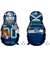 "39"" Football Player Seattle Seahawks Foil Balloon"