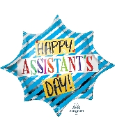 "35"" Assistant&#39s Day Blue SuperShape™ XL® Foil Balloon"