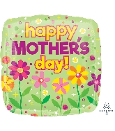 "18"" Happy Mother's Day Garden Patch Foil Balloon"