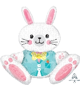 "28"" Airfill Only Sitting Bunny Multi-Balloon Foil Balloon"