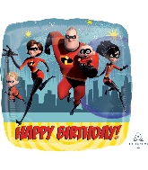 "18"" The Incredibles Happy Birthday Foil Balloon"