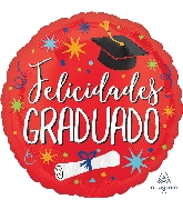 "18"" Felicidades Graduado Celebration Foil Balloon"