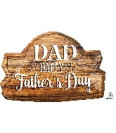 "28"" Happy Father&#39s Day Wood Marquee Foil Balloon"