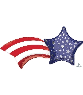 "27"" Patriotic Shooting Star SuperShape™ XL® Foil Balloon"