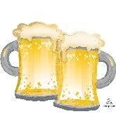 "32"" Beer Mugs SuperShape™ XL® Foil Balloon"