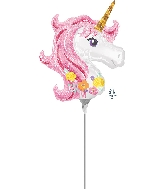 "9"" Magical Unicorn Airfill Only Mini Shape Foil Balloon"