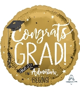 "28"" The Adventure Begins Jumbo Foil Balloon"