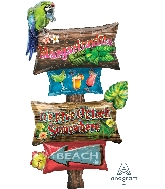 "54"" Margaritaville Sign Giant Multi-Balloon Foil Balloon"