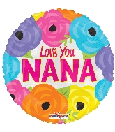 "9"" Airfill Only I Love You Nana Foil Balloon"