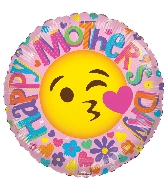 "9"" Airfill Only Happy Mother&#39s Day Smiley Face Foil Balloon"