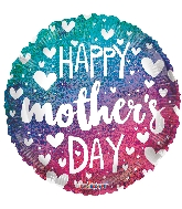 "18"" Mother's Day Gradient Holographic Foil Balloon"
