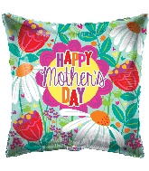 "18"" Happy Mother's Day Tulips & Daisies Foil Balloon"