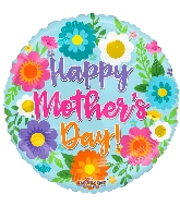 "18"" Happy Mother&#39s Day S ing Flowers Foil Balloon"