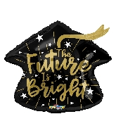 "18"" The Future Is Bright Cap Shape Foil Balloon"