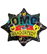 "20"" Omg You Graduated Shape Foil Balloon"