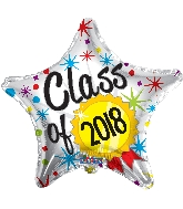 "18"" Class Of 2018 Gold Medal Foil Balloon"
