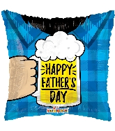 "18"" Father's Day Beer Foil Balloon"