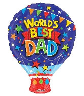 "18"" World &#39s Best Dad Shape GelliBean Foil Balloon"