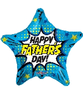 "18"" Father's Day Burst Foil Balloon"