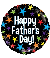 "18"" Father&#39s Day Stars Foil Balloon"