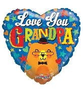 "18"" Love You Grandpa Bear Foil Balloon"