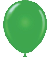"17"" Standard Green Tuf Tex Latex Balloons 50 Per Bag"