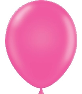 "17"" Pastel Hot Pink Tuf Tex Latex Balloons 50 Per Bag"