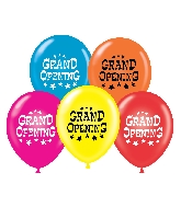 "17"" Grand Opening Printed Latex Balloons 50 Per Bag"