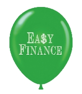 "17"" Easy Finance Printed Latex Balloons 50 Per Bag"