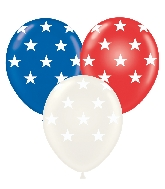 "11"" Latex Balloons Big Stars Assorted 50 Count"