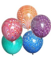 "18"" Peacock Balloon Latex Balloon (Assorted 5 Colors)"