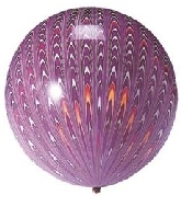 "18"" Peacock Balloon Latex Balloon Purple (5 Count)"