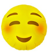 "18"" Foil Balloon Emoji Blushing"