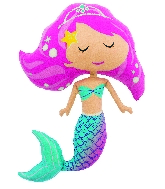 "45"" Helium Balloon Mermaid Shape"