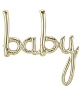 "46"" Airfill Only Baby Script - White Gold Script Word"
