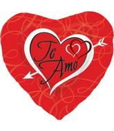 "18"" Foil Balloon Te Amo Heart with Arrow"