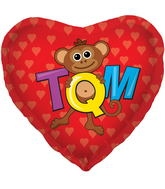 "18"" Foil Balloon TQM Monkey"