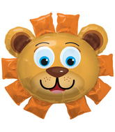 "35"" Foil Balloon Lion Head"